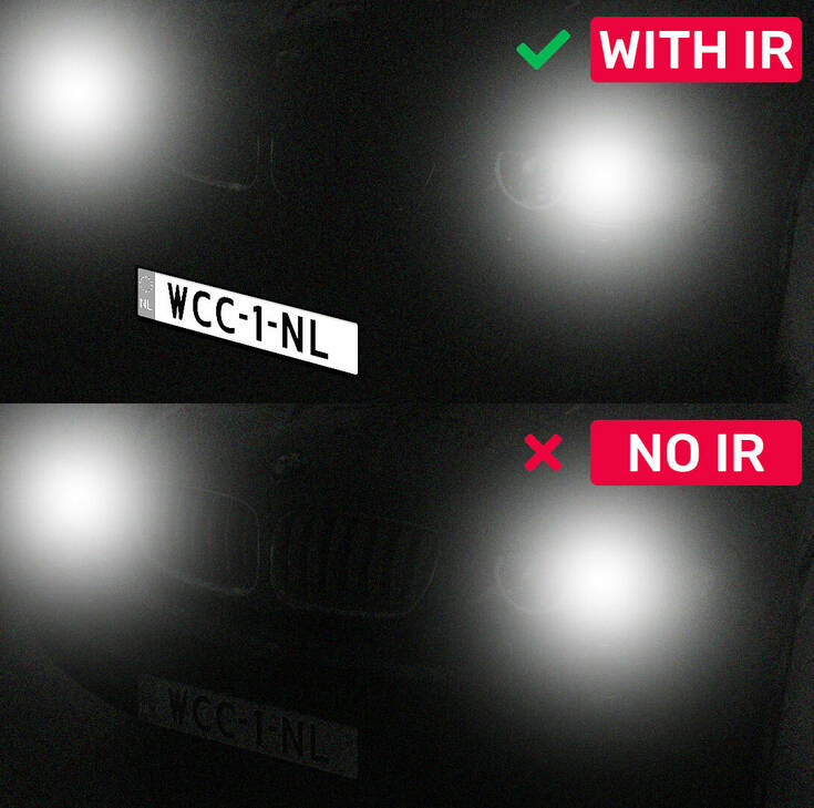 Licenplate IR Comparison Example Webcam Center