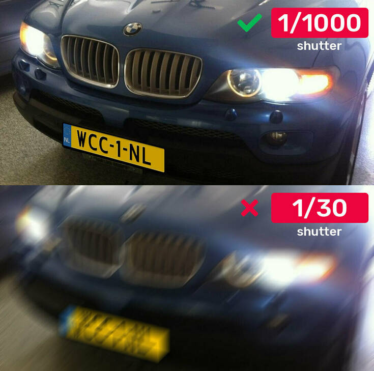Licenplate Shutter Comparison Example Webcam Center