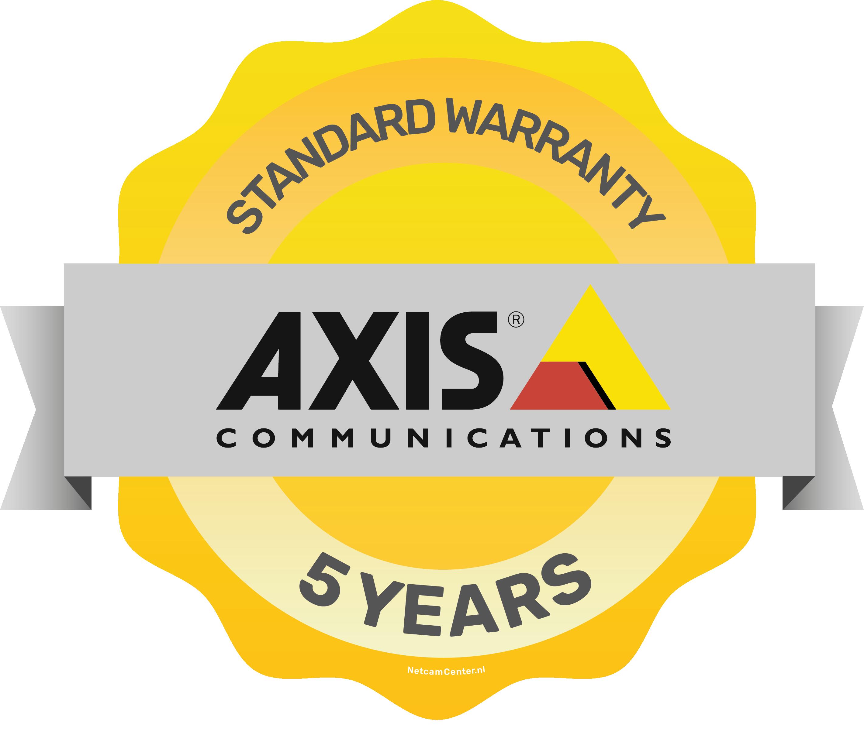 AXIS Gratis 5 jaar product garantie
